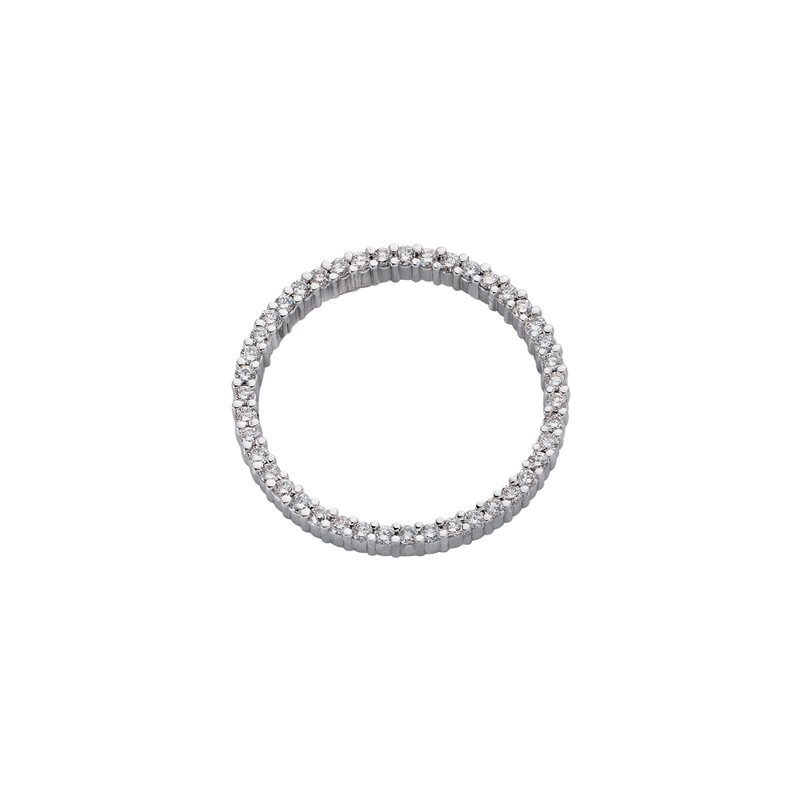 S. Kashi  & Sons White Gold Circle Pendant 30mm