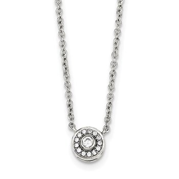 Sterling Silver CZ Necklace