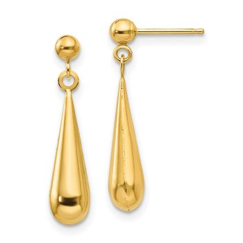 14k Madi K Teardrop Dangle Post Earrings