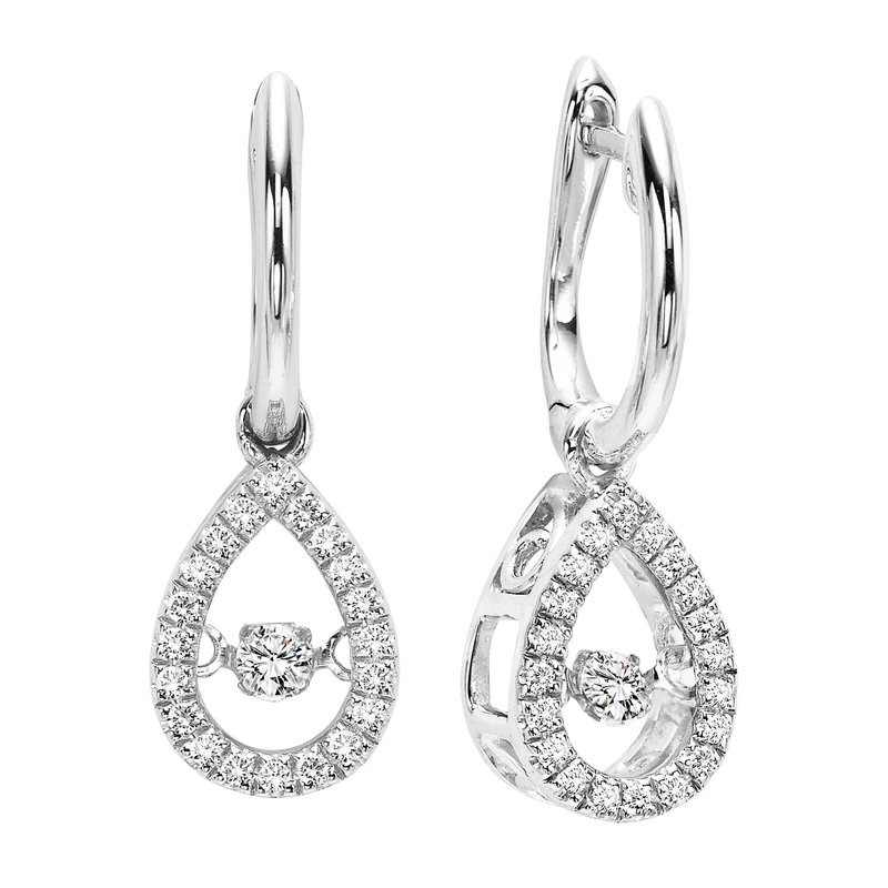 Rhythm of Love 10K Gold Diamond ROL Earrings 1/5 ctw