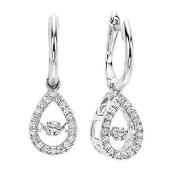 10K Gold Diamond ROL Earrings 1/5 ctw
