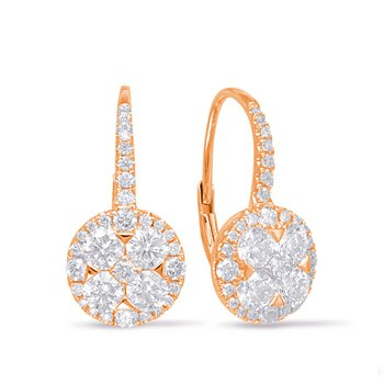 Rose Gold Diamond Earring