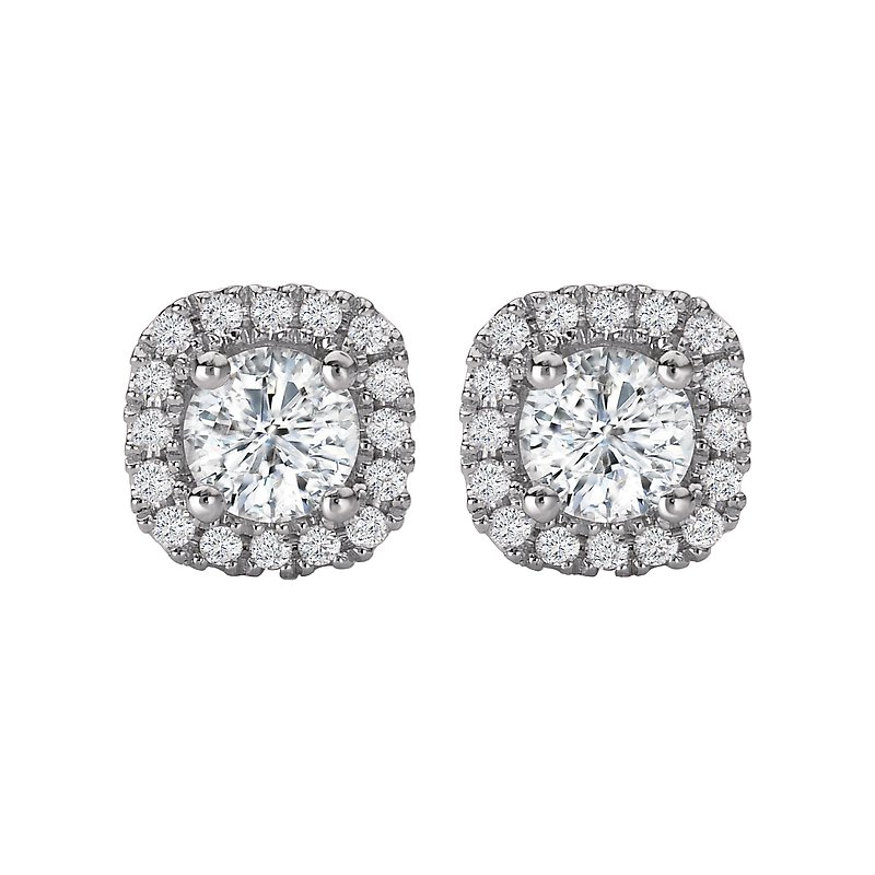 Tesoro Halo Stud Earrings