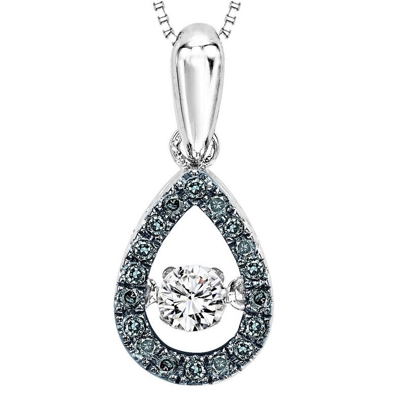 Rhythm of Love Silver Diamond Rhythm Of Love Blue Dia Pendant