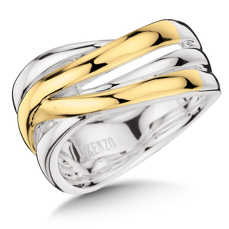 Colore Sg Sterling Silver and 18K Gold Ring