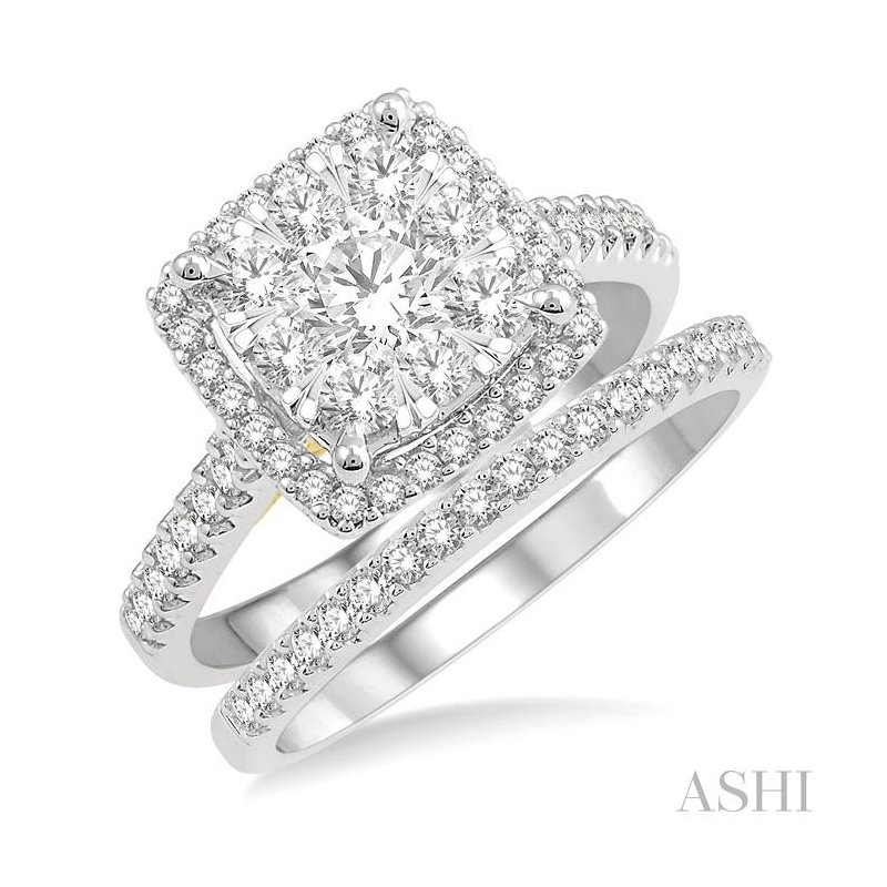 ASHI lovebright essential diamond wedding set