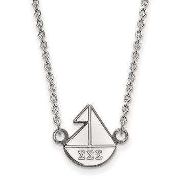 Sterling Silver Sigma Sigma Sigma Greek Life Necklace