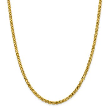14k 4.15mm Semi-solid Wheat Chain
