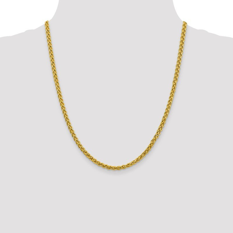 Quality Gold 14k 4.15mm Semi-solid Wheat Chain