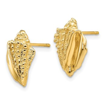 14k Conch Shell Earrings