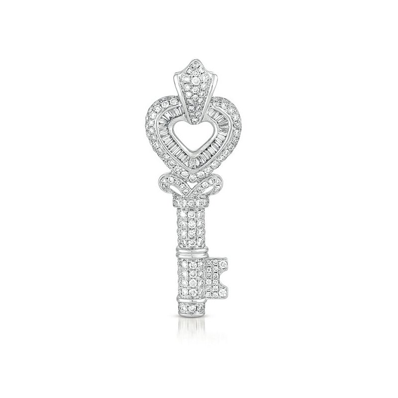 S. Kashi  & Sons White Gold Key Charm