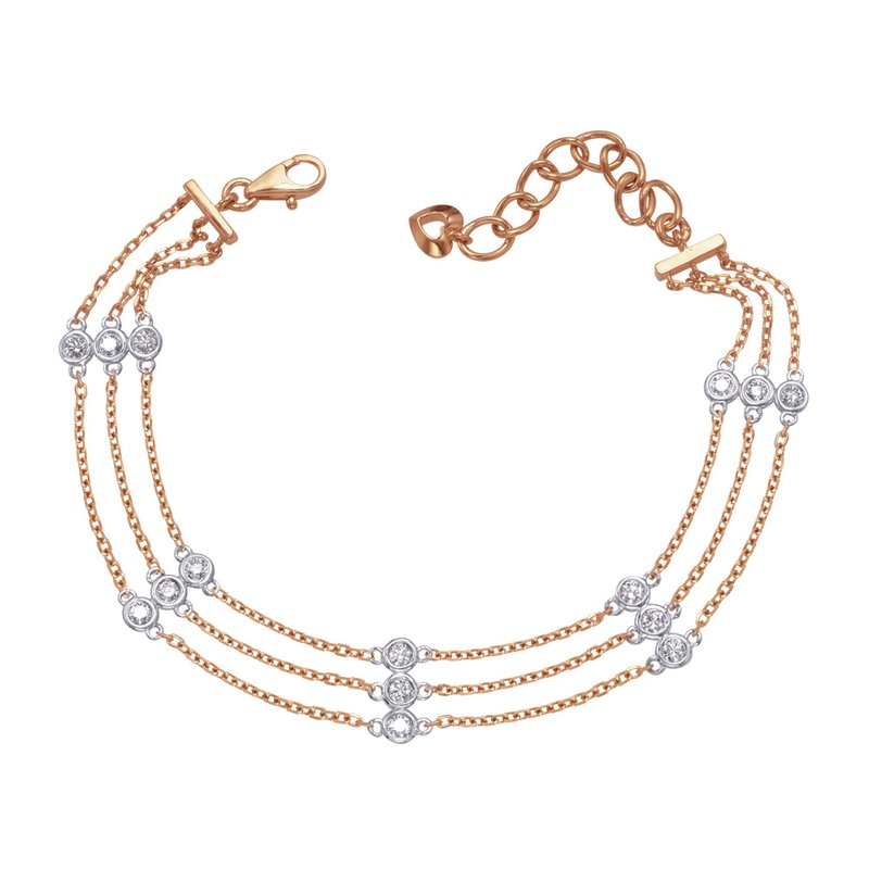 S. Kashi  & Sons Rose Gold Diamond By The Yard Braceelt