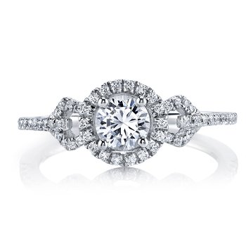 MARS 25011  Diamond Engagement Ring 0.27 Ctw.