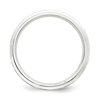 SS 7mm Brushed Fancy Band Size 10