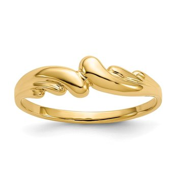 14k Polished Swirl Dome Ring