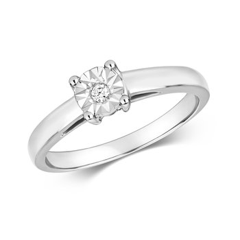 Diamond Illusion Set Solitaire