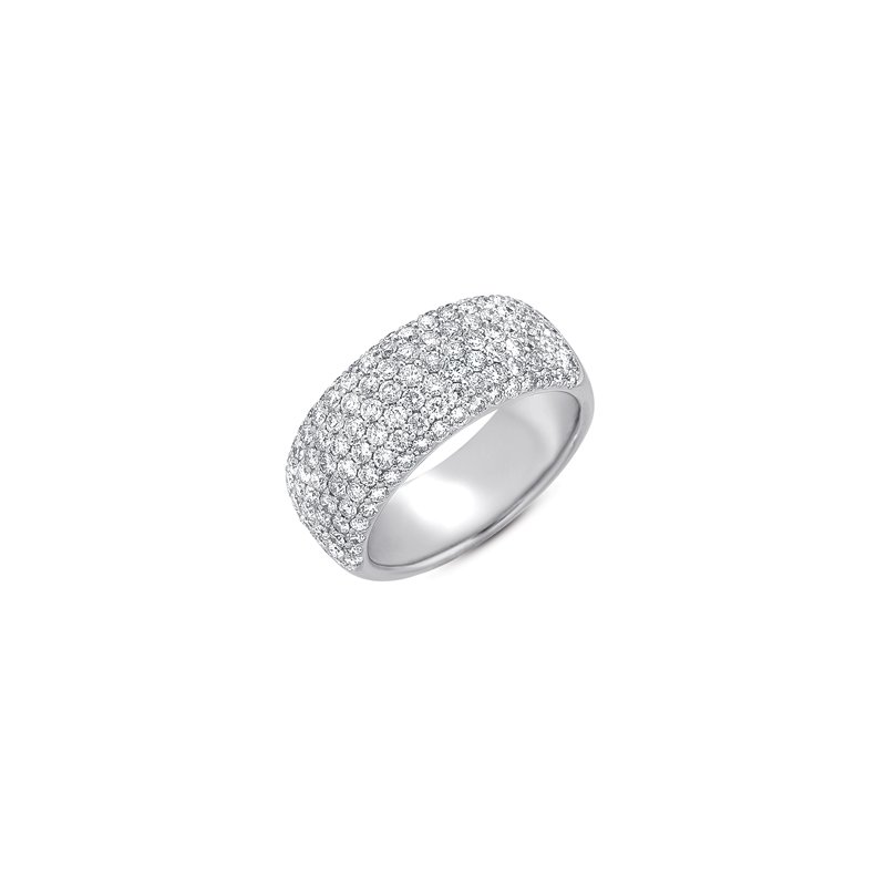 S. Kashi & Sons Bridal White Gold Diamond Pave Band