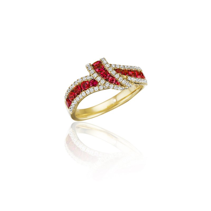 Fana Wrap Me Up Ruby and Diamond Twist Ring