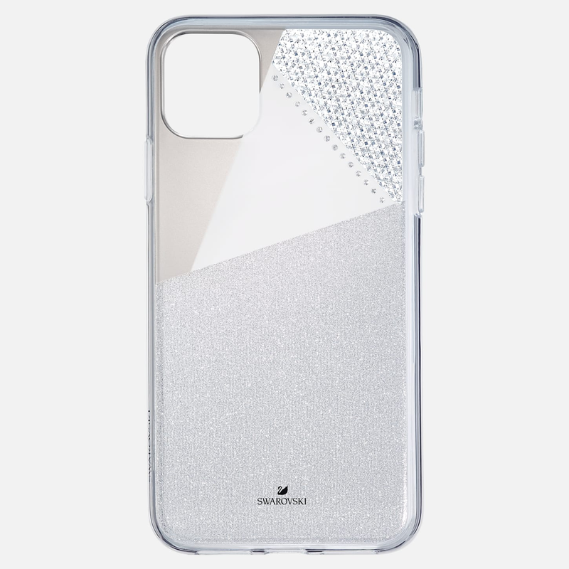 Swarovski Subtle Smartphone Case with Bumper, iPhone® 11 Pro Max, Silver tone