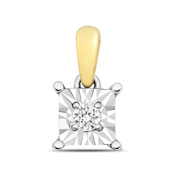 Diamond Illusion Pendant Square