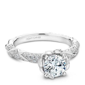 Noam Carver Floral Engagement Ring B081-02A