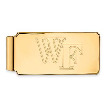 Gold Wake Forest University NCAA Money Clip