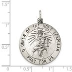 Quality Gold Sterling Silver Queen of the Holy Scapular Medal
