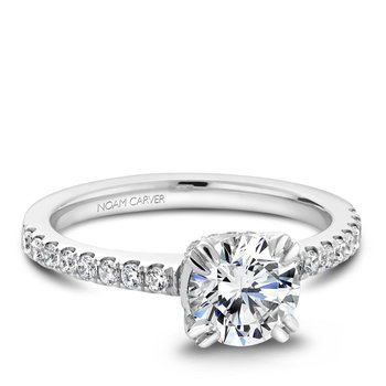 Noam Carver Modern Engagement Ring B009-01A