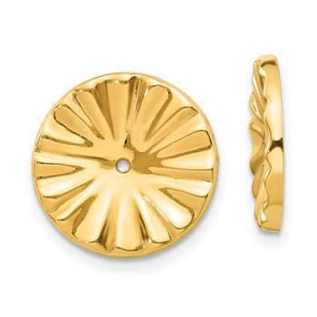 14k Polished Sunburst Earring Jackets