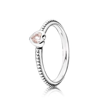 One Love Stackable Ring, Synthetic Pink Sapphire