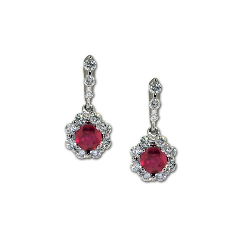 James Breski Ruby & Diamond Dangles