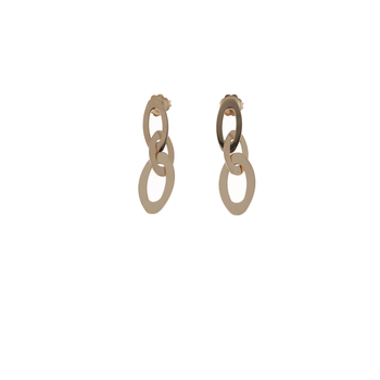 18KT GOLD SMALL LINK DROP EARRINGS