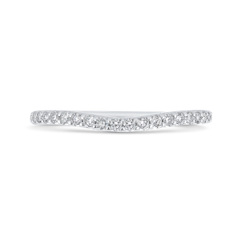 Round Cut Diamond Wedding Band In 18K White Gold