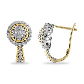 14K WY Diamond Earring