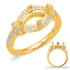 S. Kashi  & Sons Yellow Gold Halo Engagement Ring