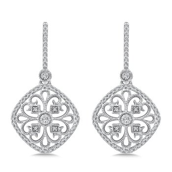 Diamond Earrings in 14K White Gold (.33 ct. tw.)