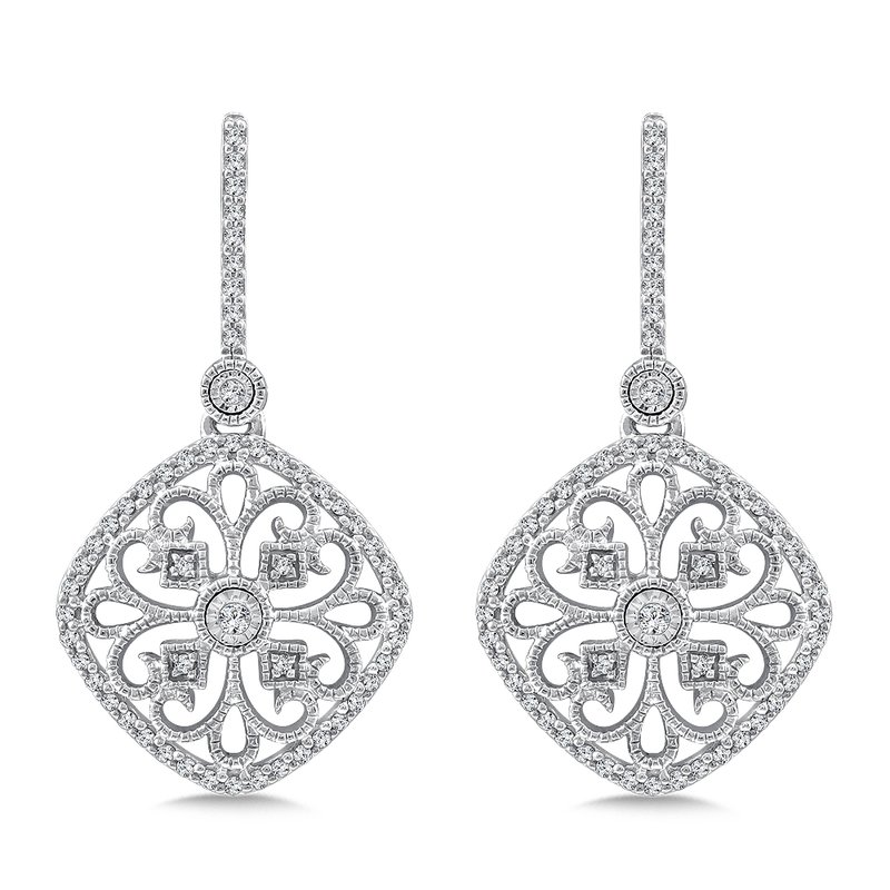 SDC Creations Diamond Earrings in 14K White Gold (.33 ct. tw.)