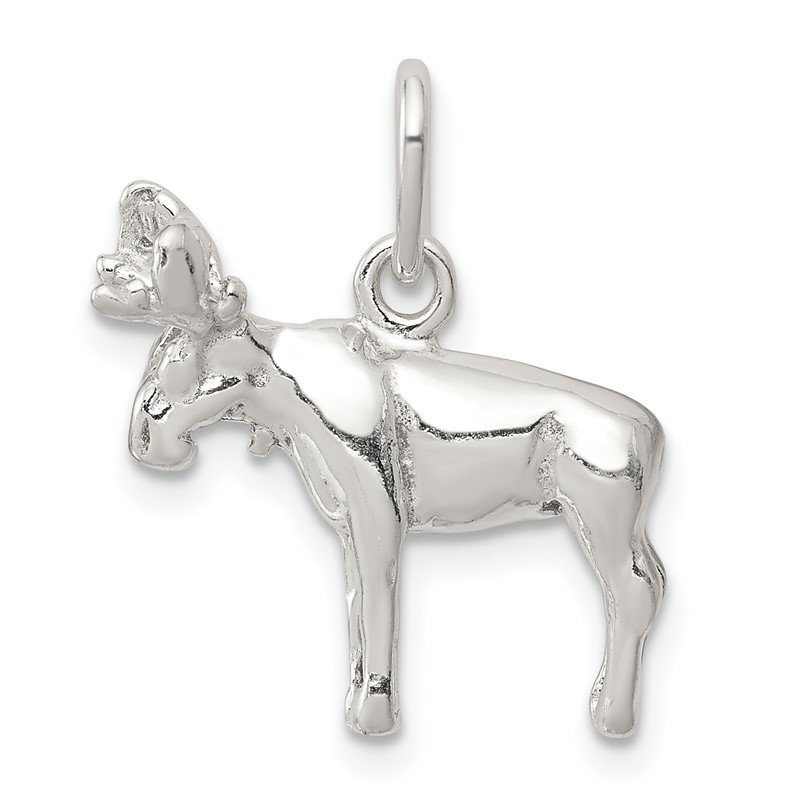 Quality Gold Sterling Silver Moose Charm