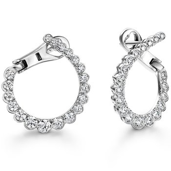 0.98 ctw. Aerial Regal Diamond Hoops- Small