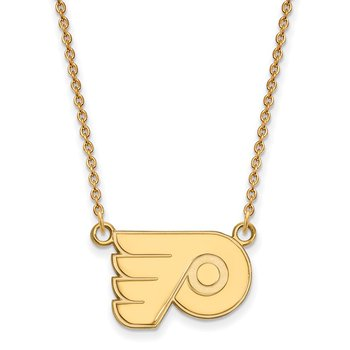 Gold-Plated Sterling Silver Philadelphia Flyers NHL Necklace