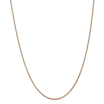 14k Rose Gold 1.3mm Box Chain