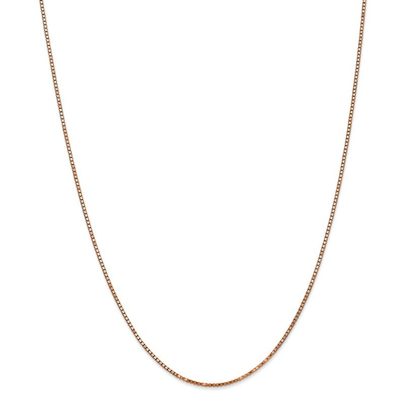 Quality Gold 14k Rose Gold 1.3mm Box Chain
