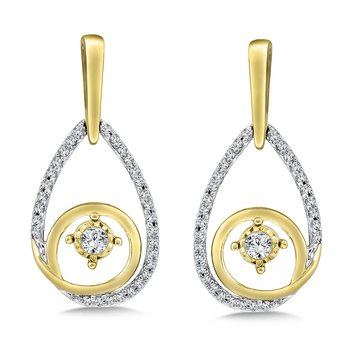 Diamond Earrings in 14K White/Yellow Gold (.33 ct. tw.)