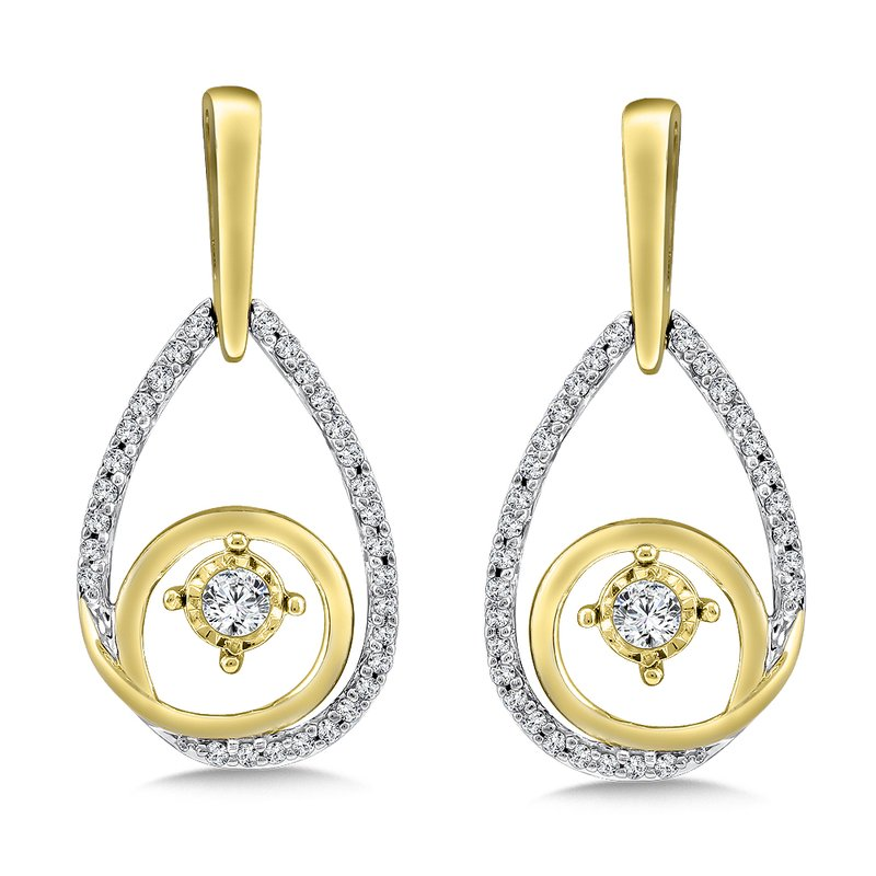 SDC Creations Diamond Earrings in 14K White/Yellow Gold (.33 ct. tw.)