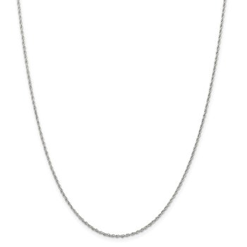 Sterling Silver Rhodium-plated 1.6mm Loose Rope Chain