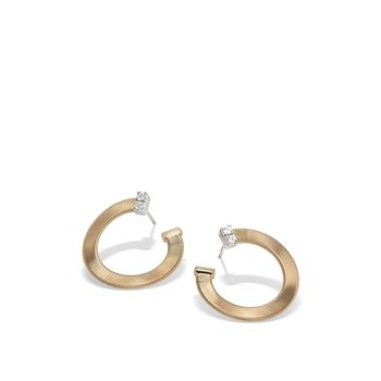 Masai Yellow Gold and Diamond Small Wrap Hoops