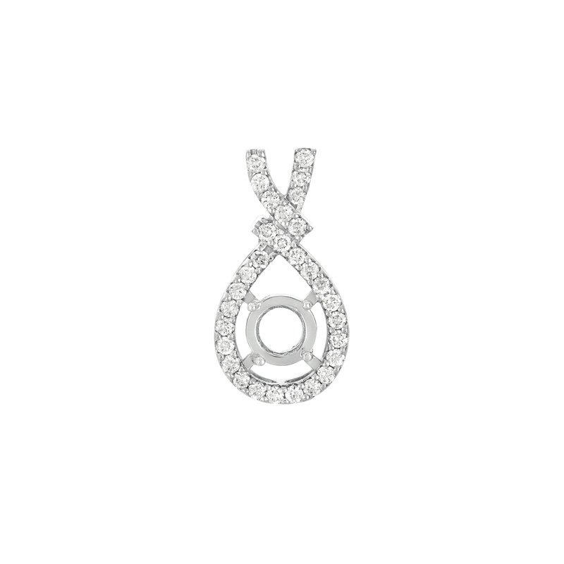 S. Kashi  & Sons Diamond Pendant For  2ct Round Stone