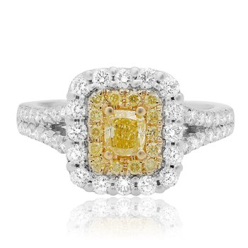 Split Shank Radiant Cut Diamond Ring