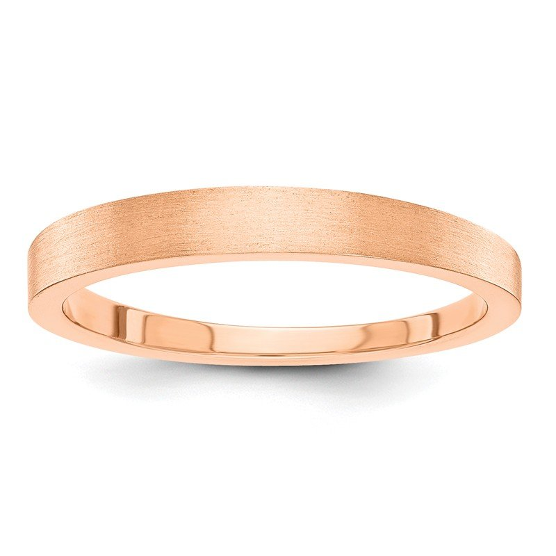 Quality Gold 14k Rose-Gold 3mm Satin Tapered Band