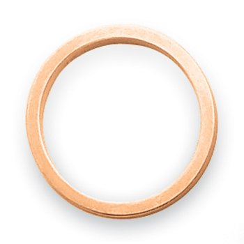 14k Rose-Gold 3mm Satin Tapered Band